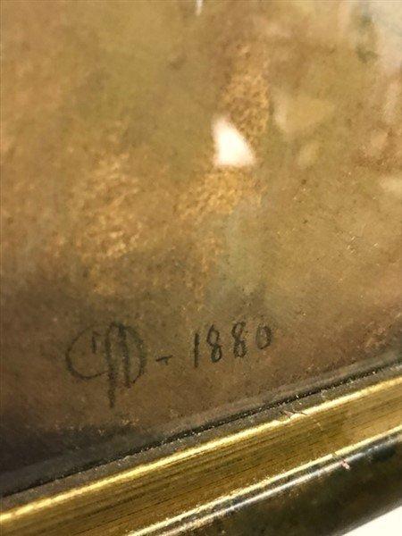 Framed Pastel of Infant dated 1880 - 2