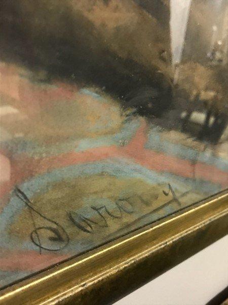 Framed Pastel of Infant dated 1880 - 3
