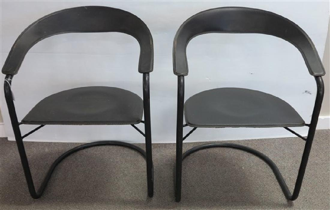 2 Modern Leather Chairs