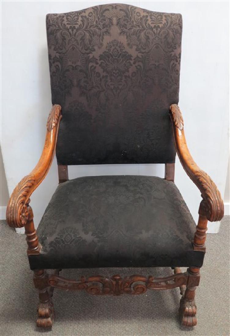 19th Cent Throne Chair