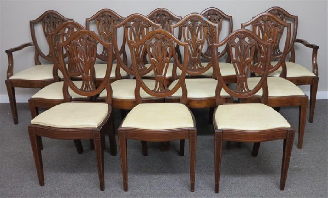 12 Mahogany Chairs