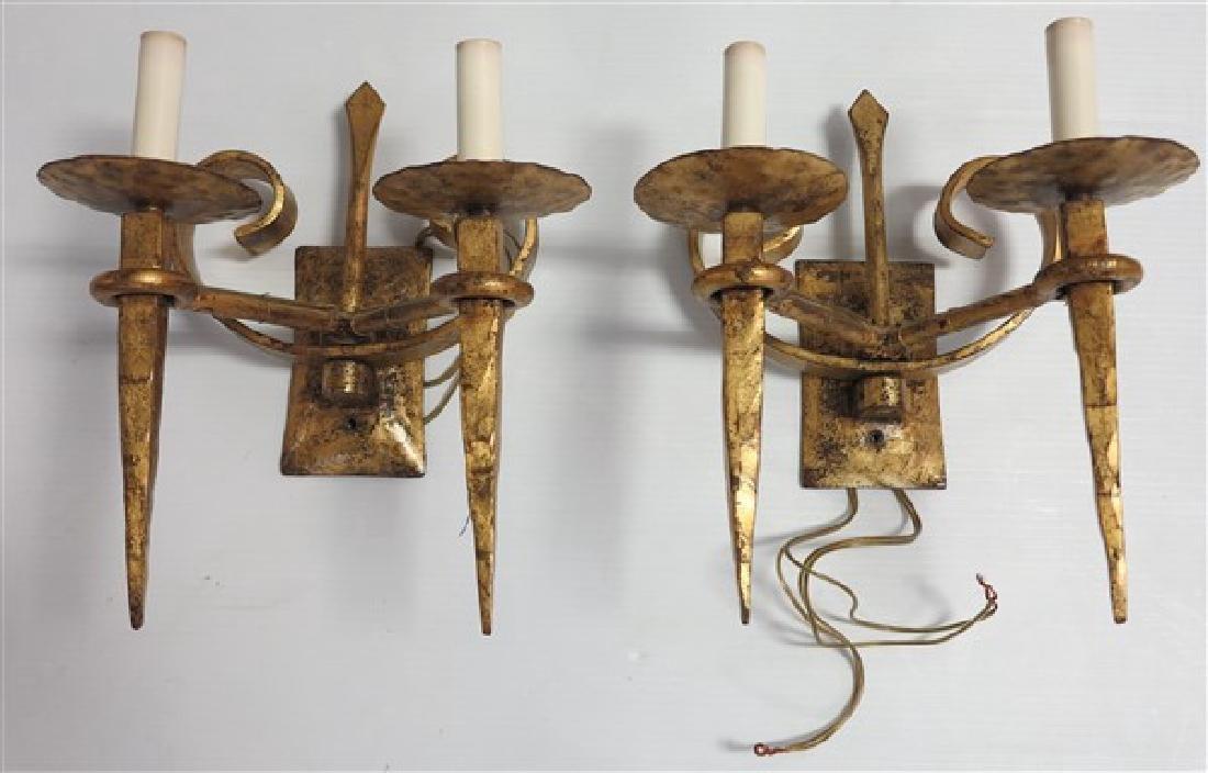Pr Iron Gothic Sconces