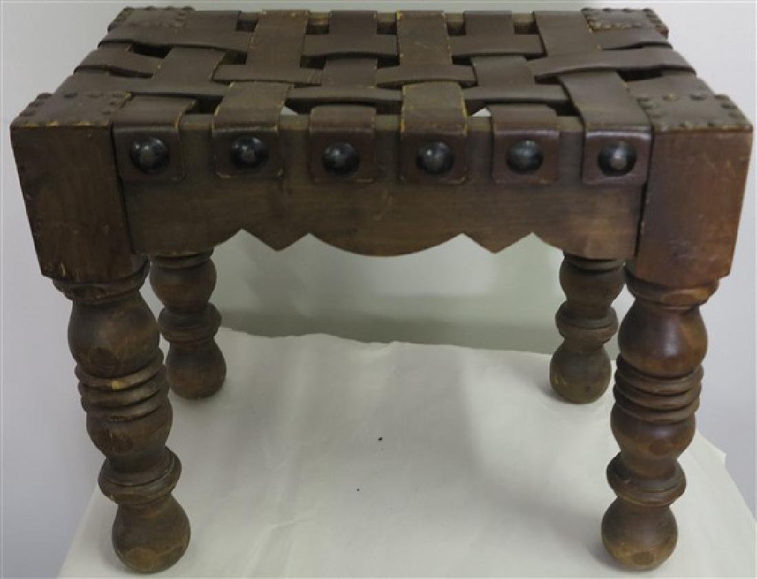 Strap Seat Ottoman