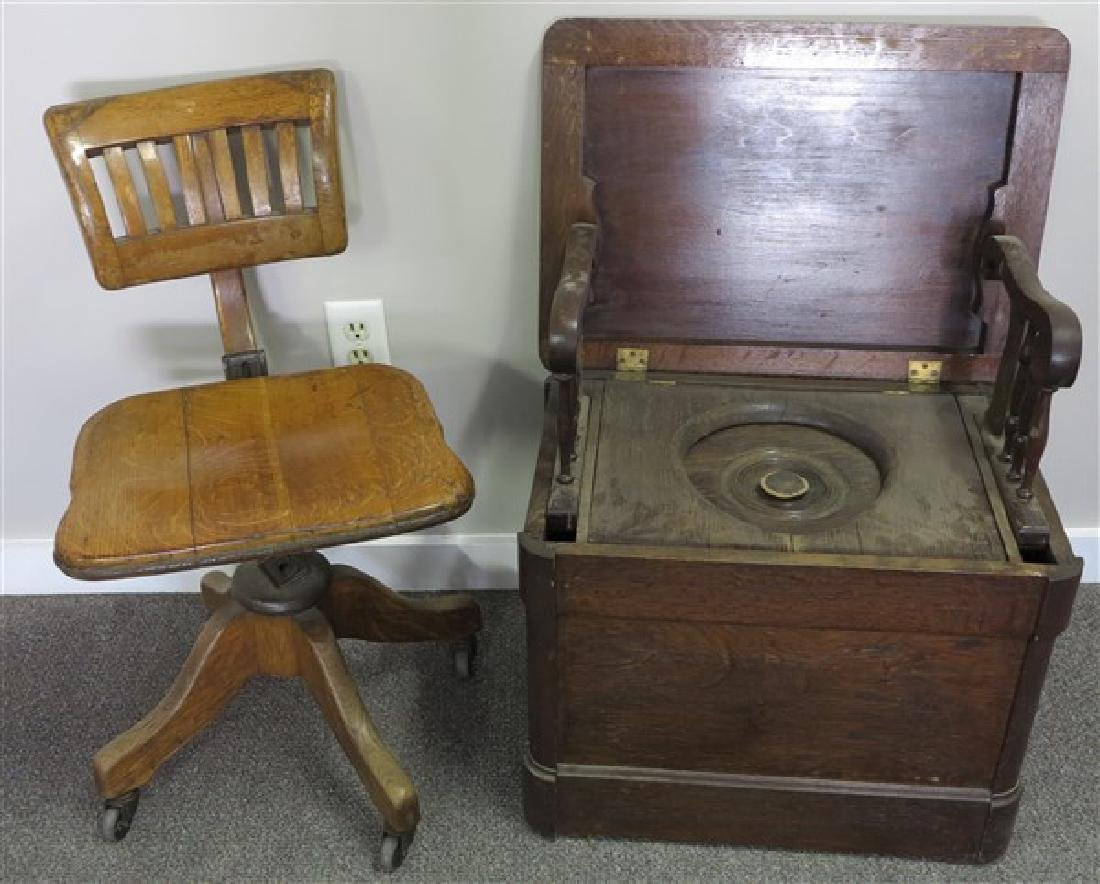 Commode and Desk Chair