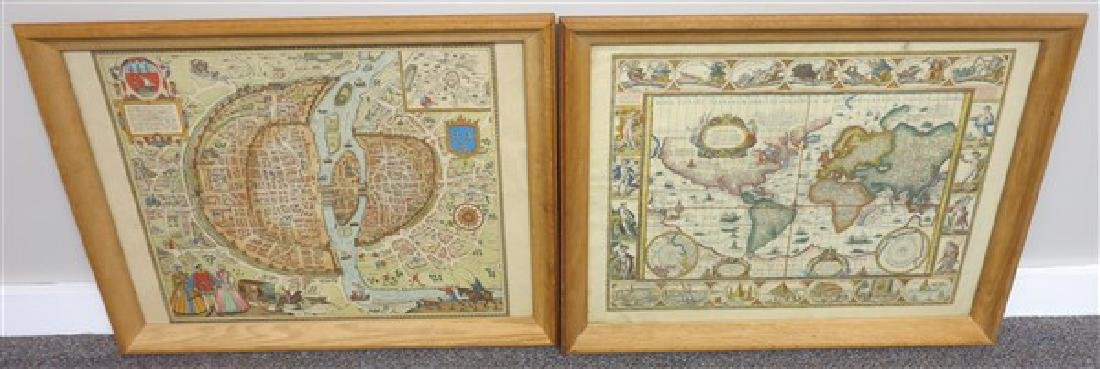 4 Framed Maps - 2