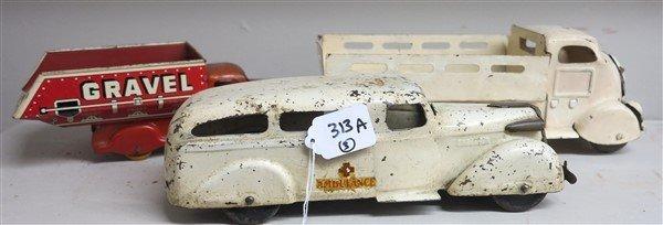 3 Vintage Tin Toys