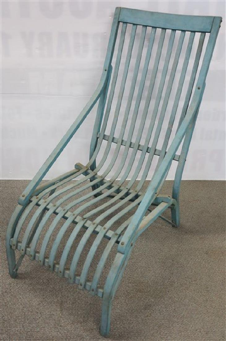 Country Porch Chair in blue Paint