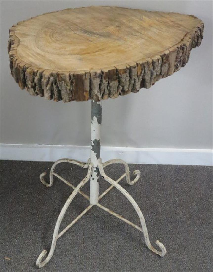 Iron Table with Slab Top