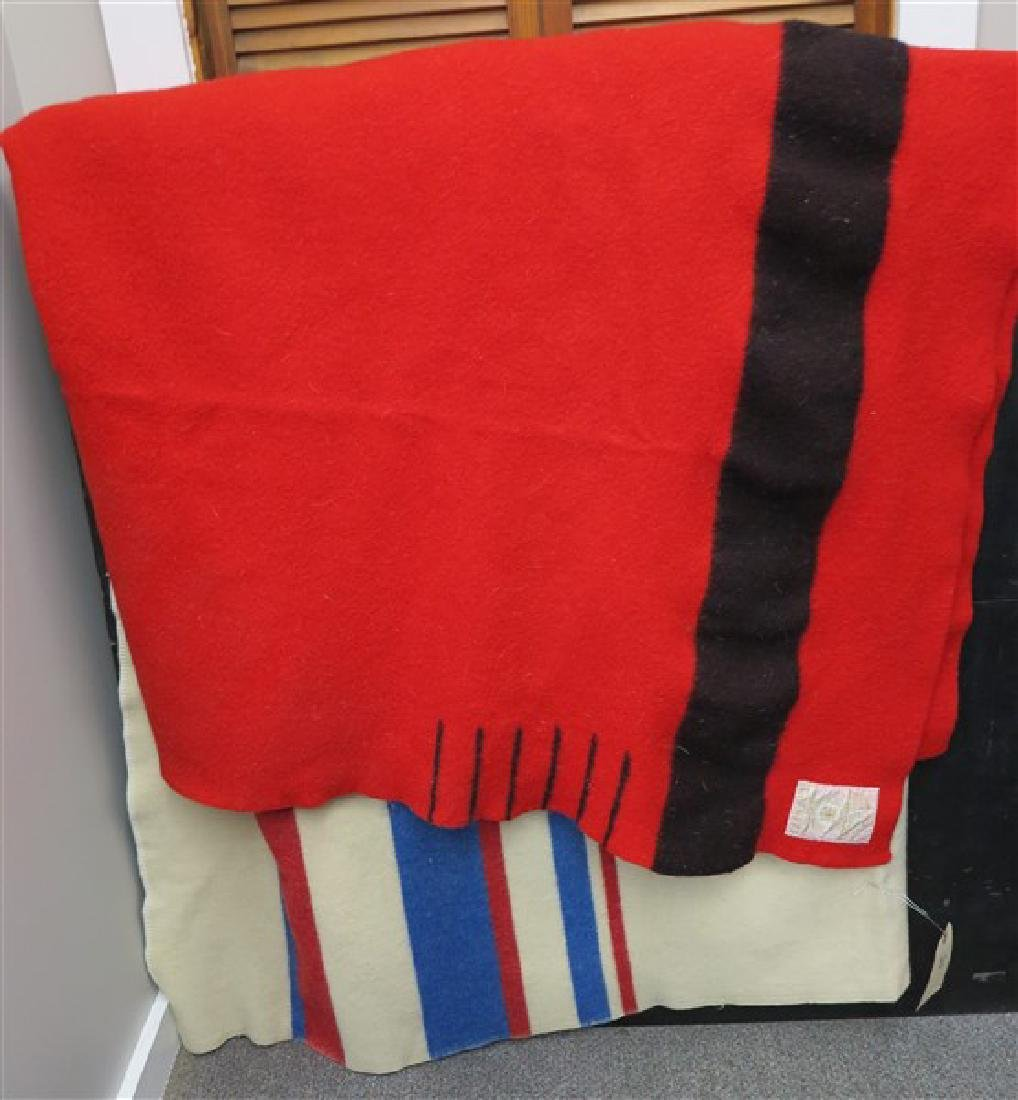 2 Wool Blankets, 1 Hudson Bay