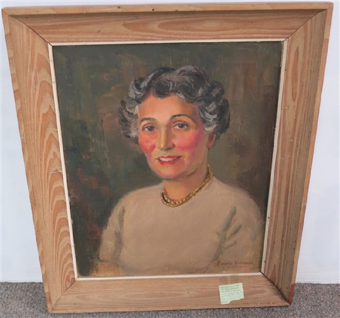 Framed Portrait o/c signed Carolus Verhoeren