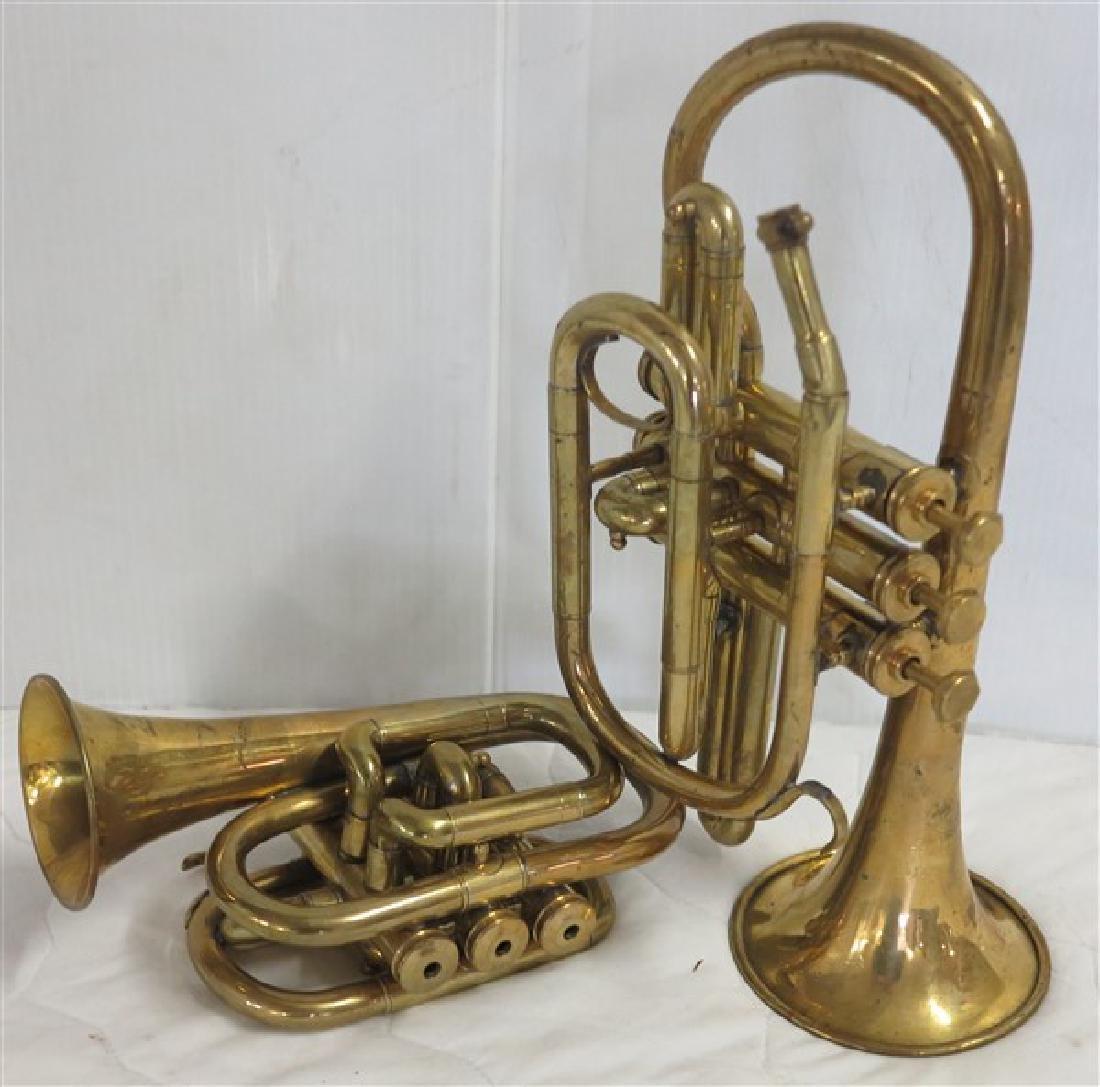 2 Brass Horns, Bessons & Co., London