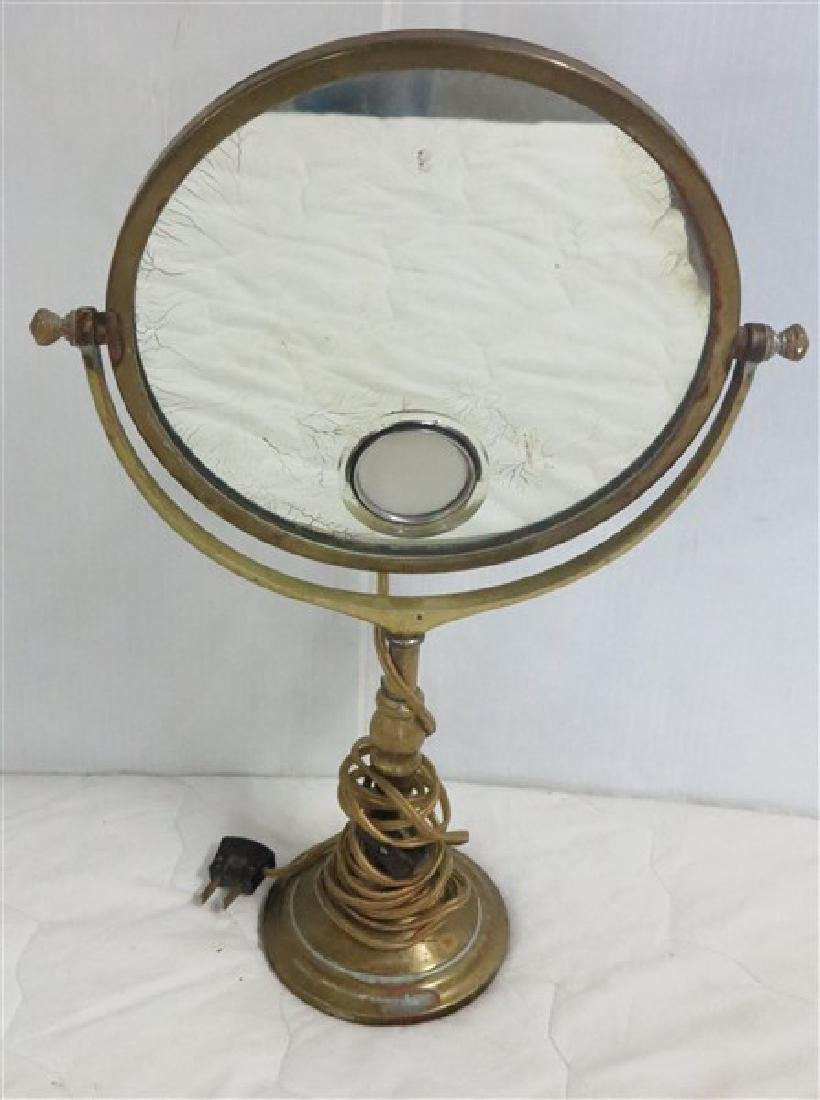 French Bronze Vanity Mirror