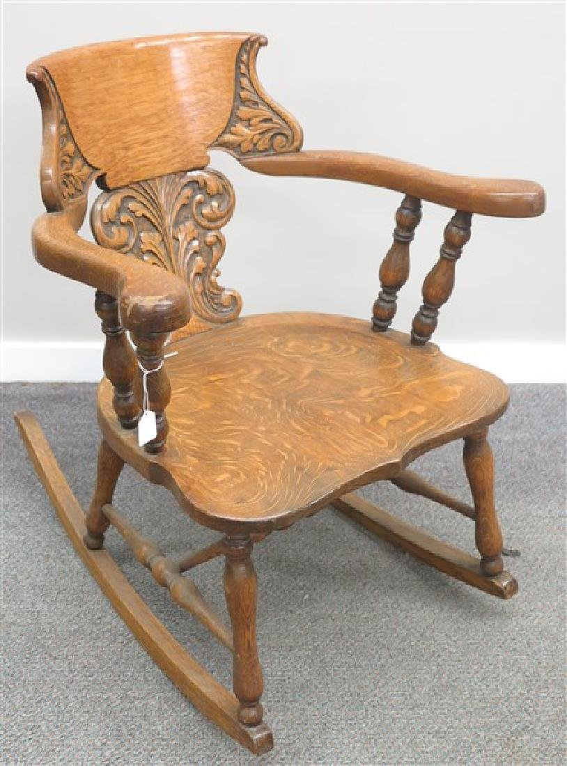 Carved Oak Rocker CA.1900