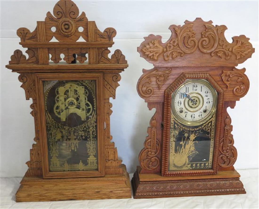 2 Oak Gingerbread Clocks