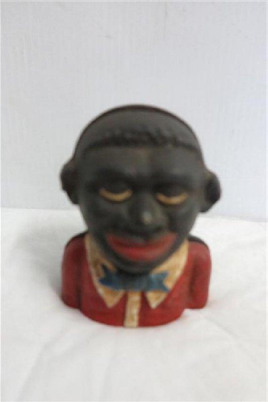 Cast Iron Vintage Black Bank