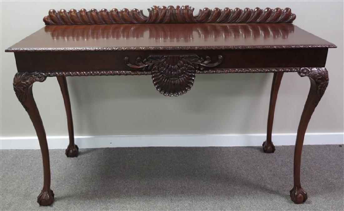 Custom Carved Sideboard w/ Claw Feet