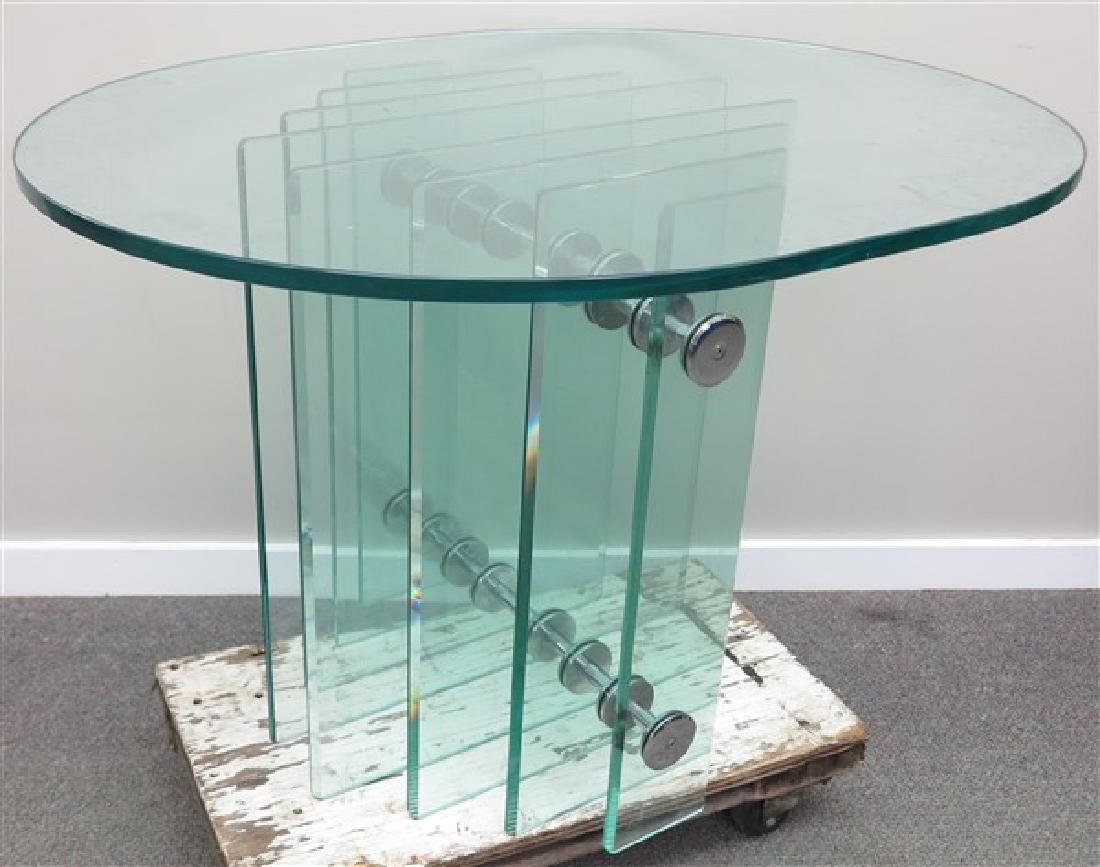 Mid-Century Glass Top Table