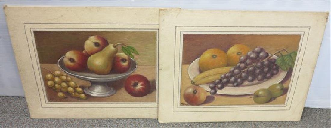 2 Still Life Oil Paintings signed A. Ranchel(?)