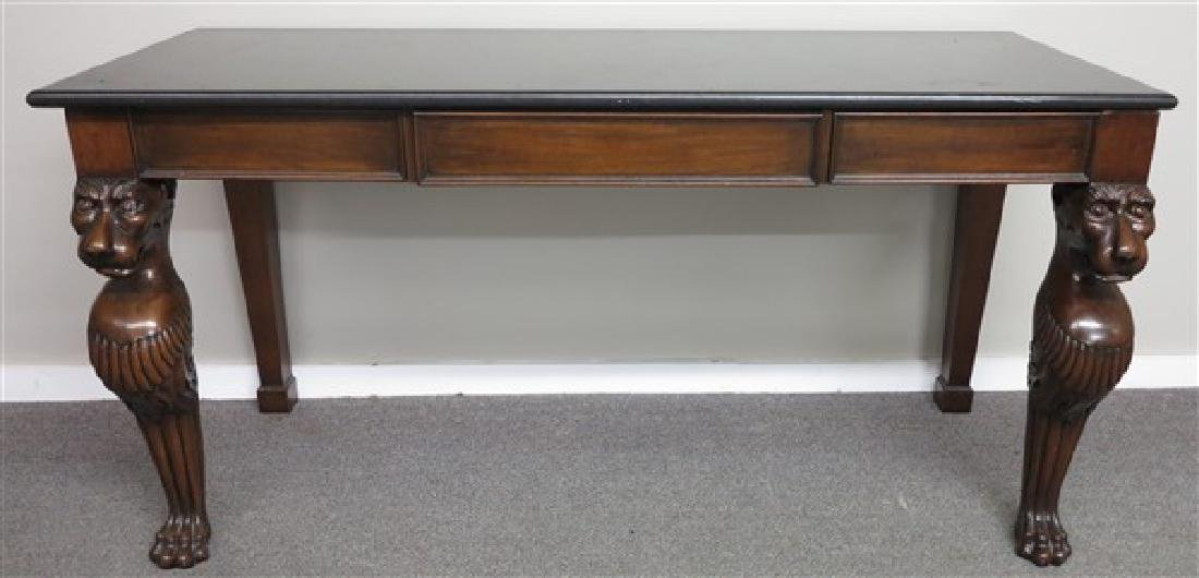 MT 3 Drawer Console w Lions Heads