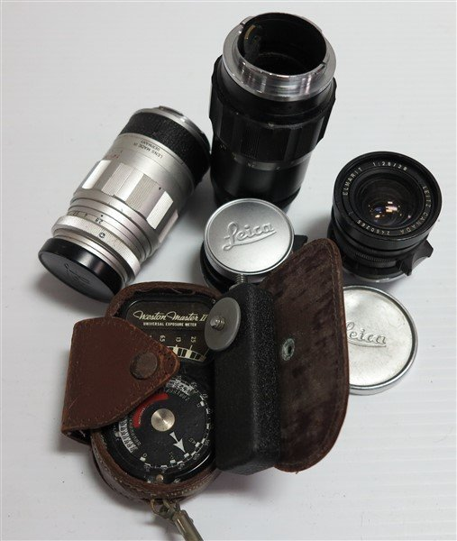 Leitz Lenses & Weston Master II Light Meter