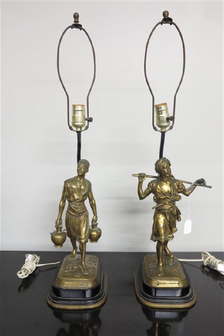 PR Bronze Figures Converted to Lamps