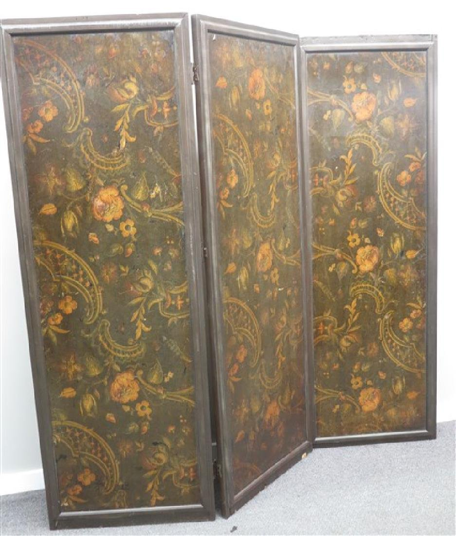 3 Panel Paint Decorated Screen