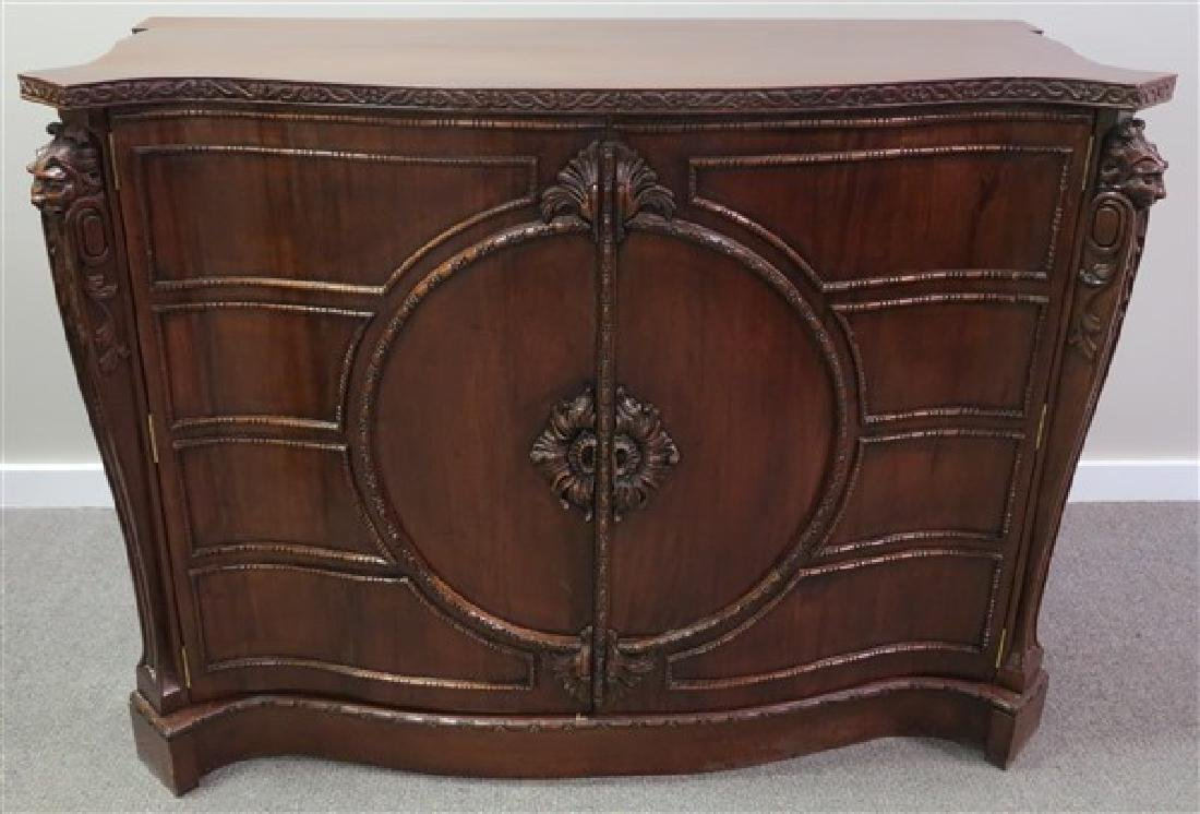 Quality Mahogany Chest w/ Fitted 4 Drawer Interior
