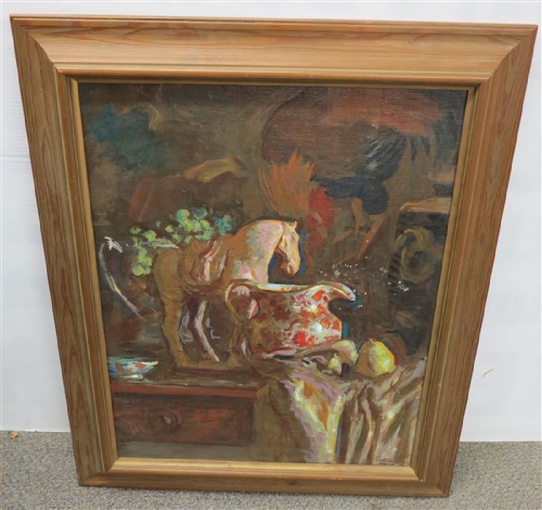 o/c Framed Horses- Signed Sutton