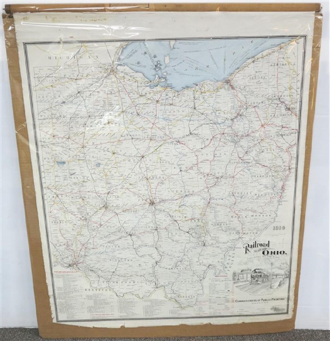 R.R. Items- Map & Locomotive Print