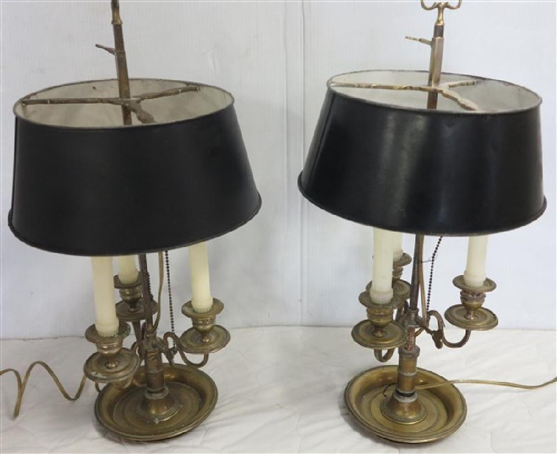 2 Bouillotte Lamps w tin shades