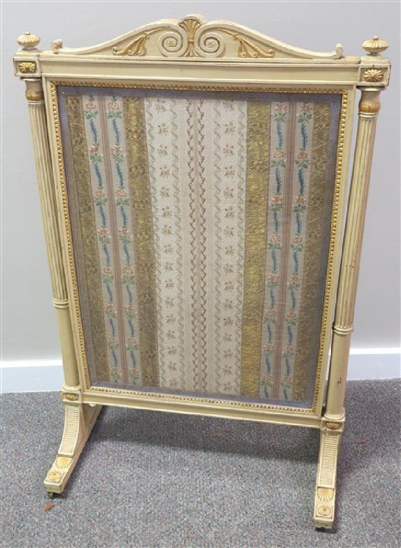 Paint Decorated Fire screen