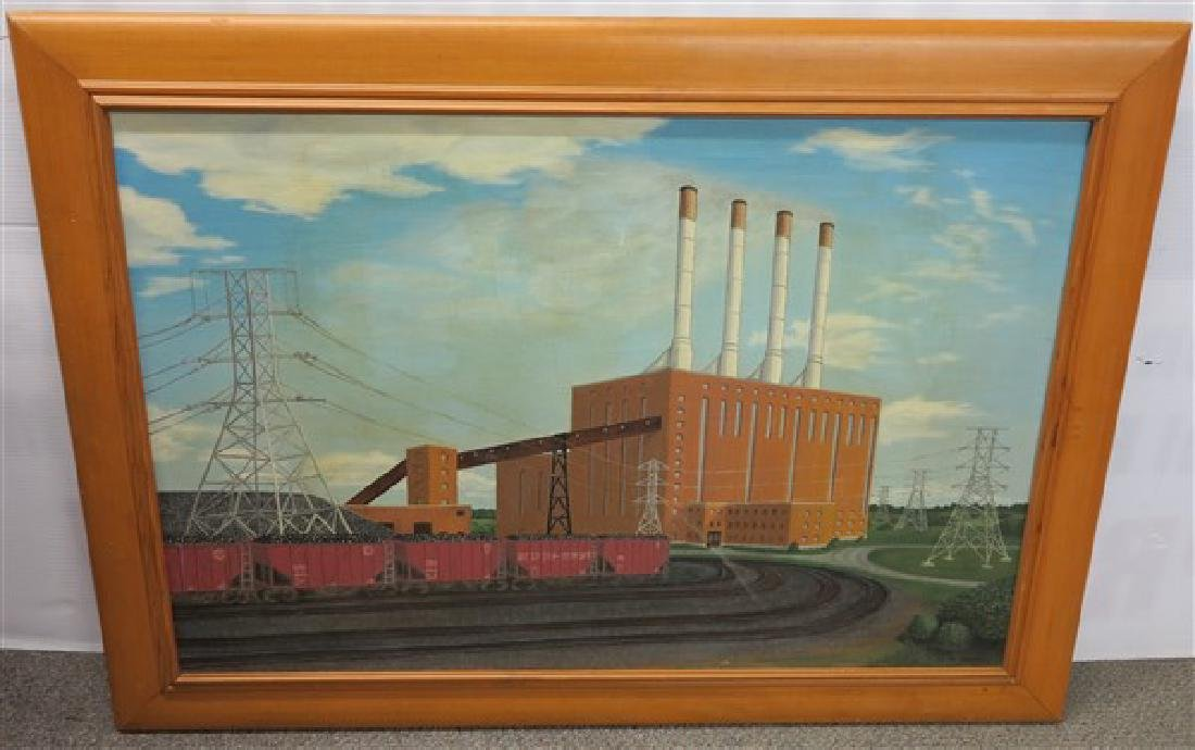 o/c Framed Industrial Scene
