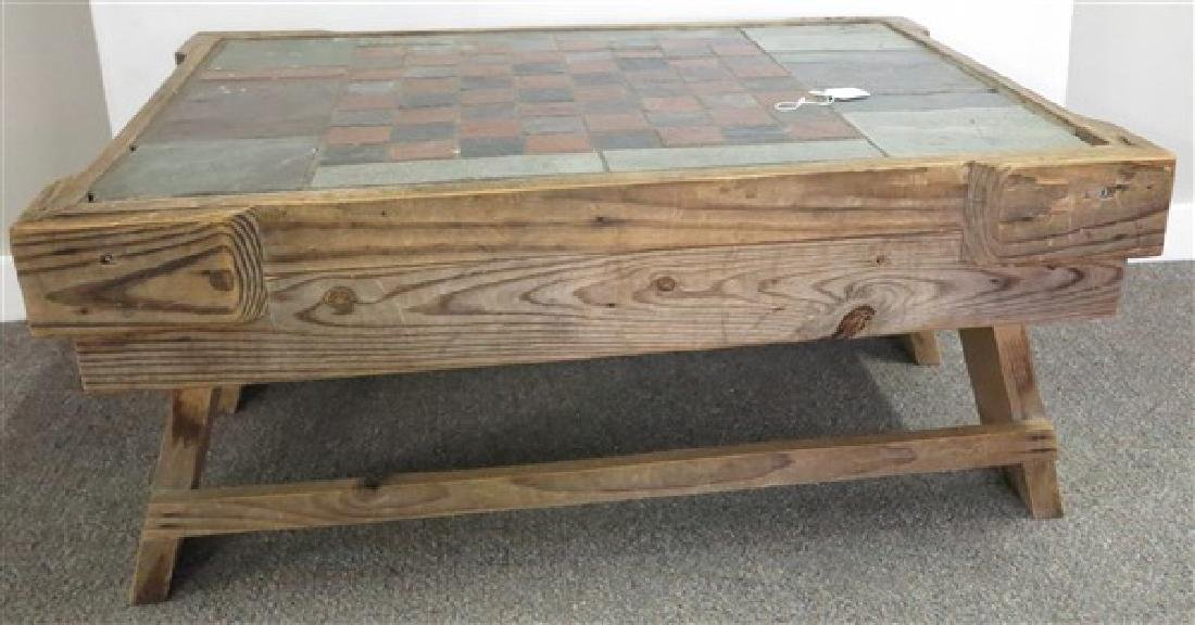 Tile Top Primitive Low Table