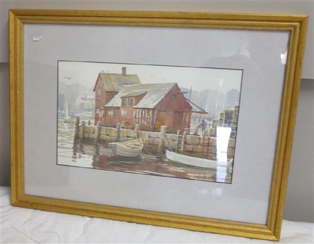 Framed Watercolor, signed