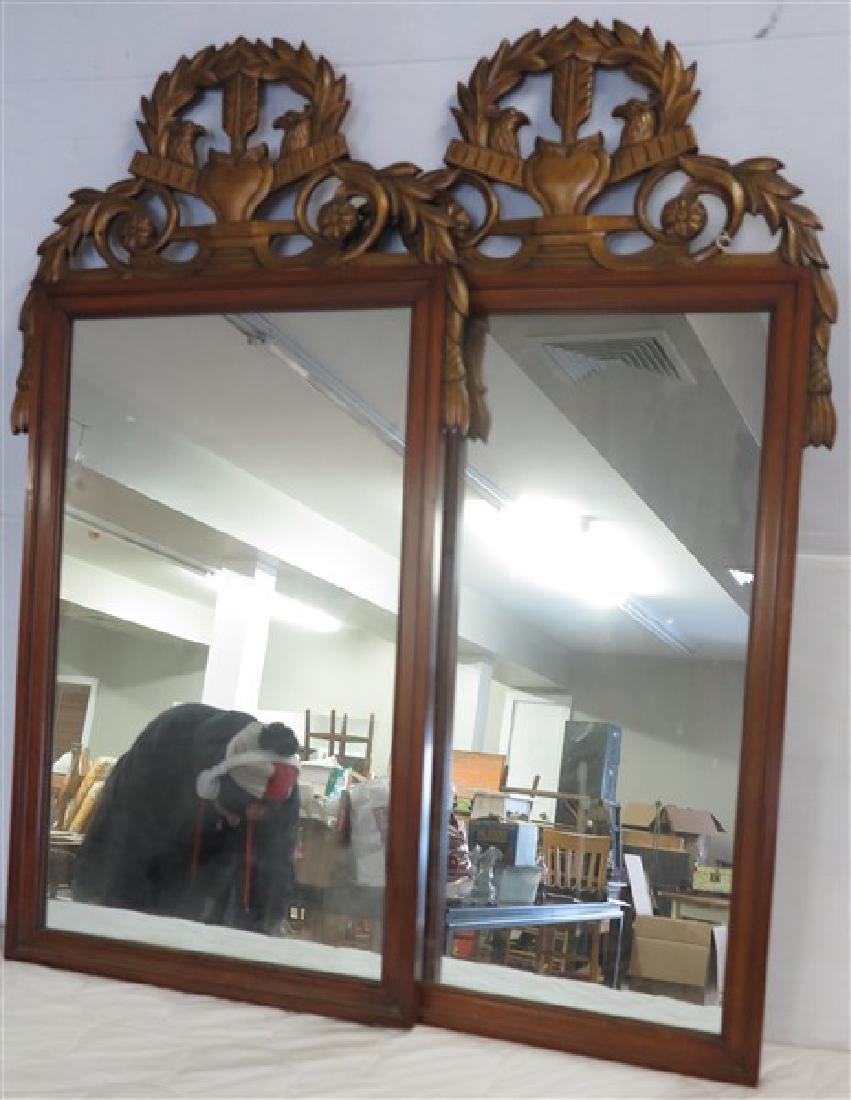 Matched Pair of Carved Mirrors