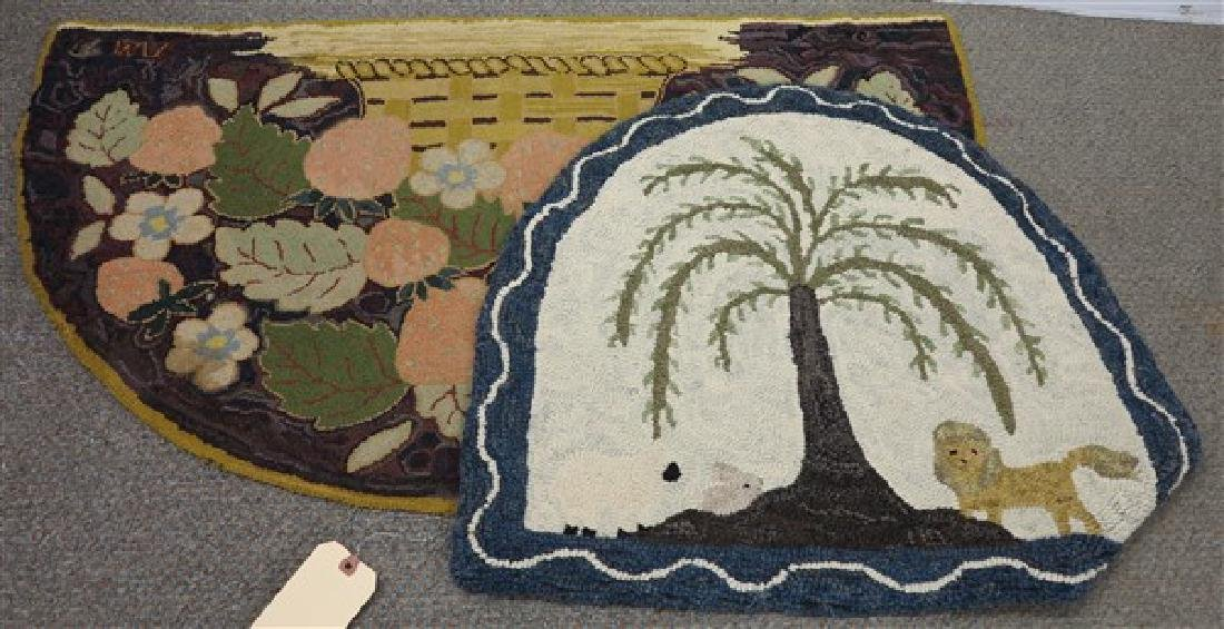 2 19th Cent Hooked Rugs