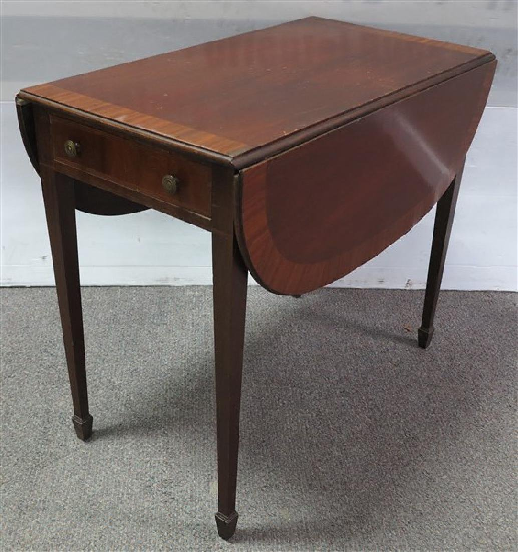 1 Drawer Banded Pembroke Table