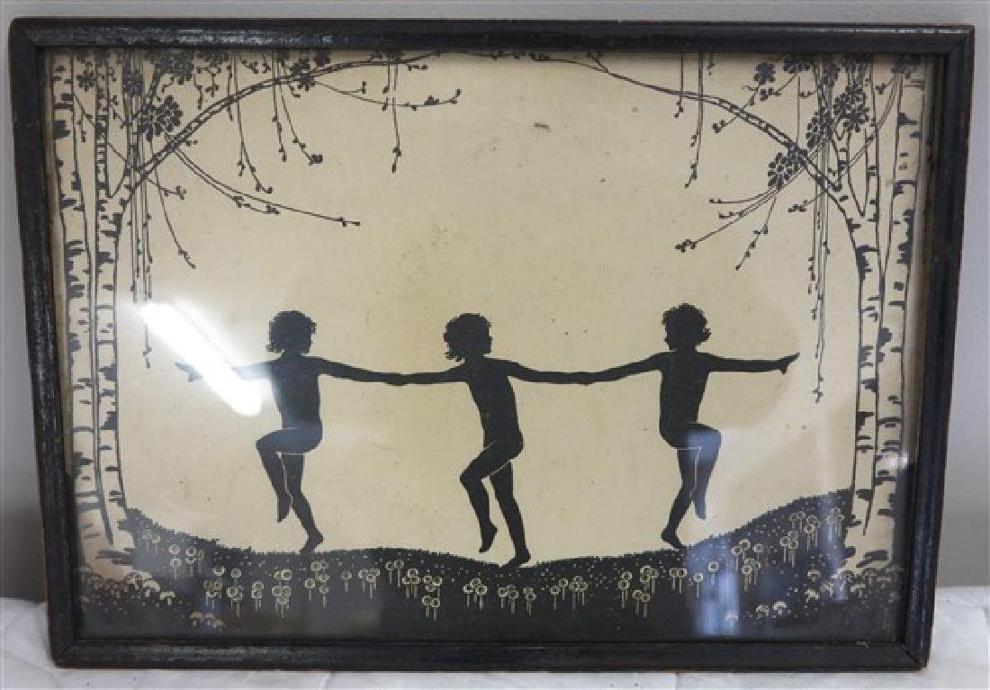 Framed Nymphs in Silhouette