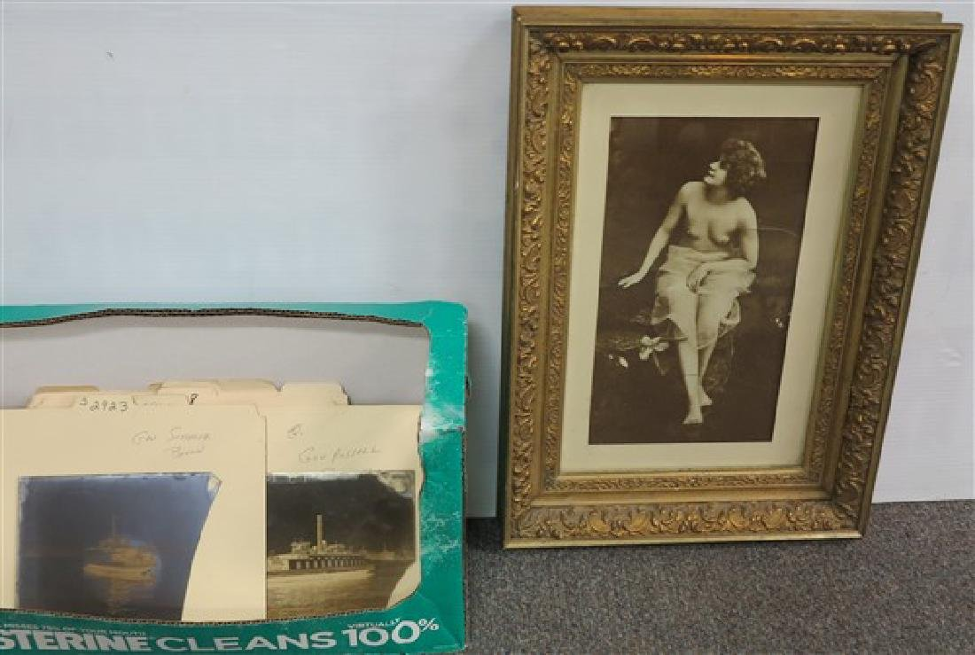 Frame Vintage Nude Photo & Glass Ferry Negatives