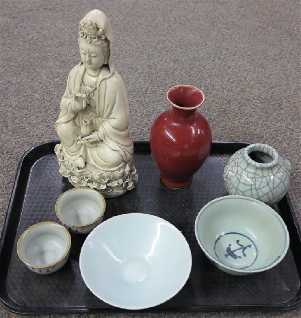 7 Pc Tray Lot Porcelain, bowls and more