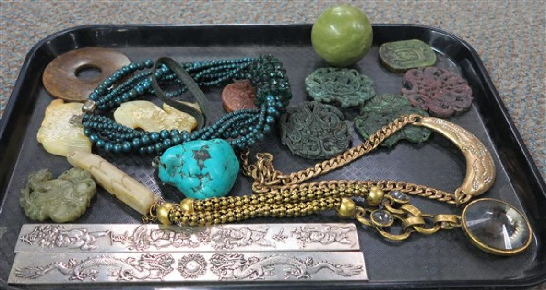 Assorted Oriental Items and Jewelry