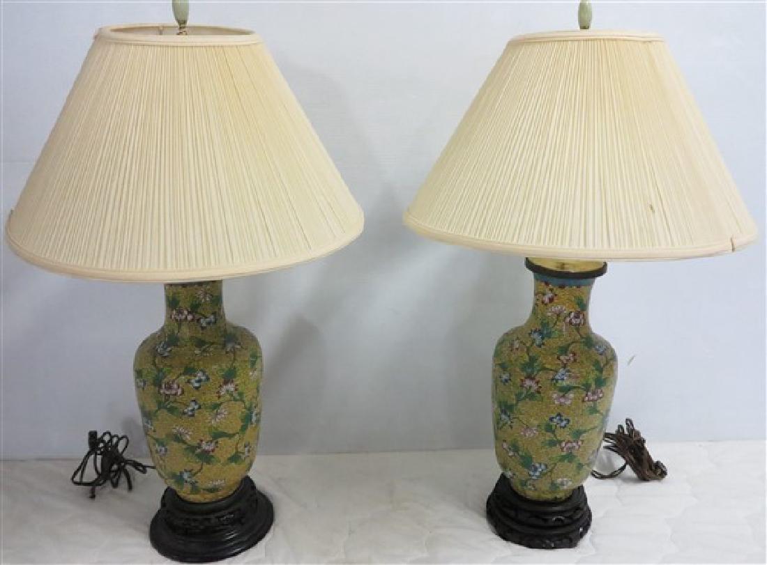 2 Contemporary Oriental Lamps