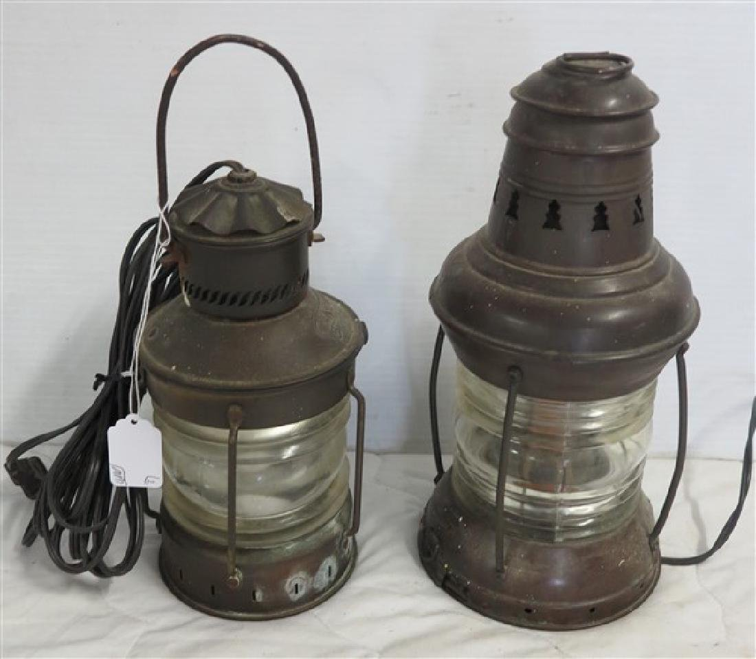 2 Small Electrified Lanterns