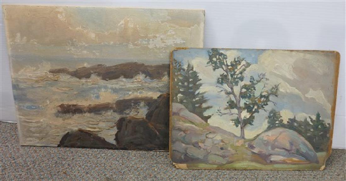 2 Unframed Oil Paintings on Artist Board