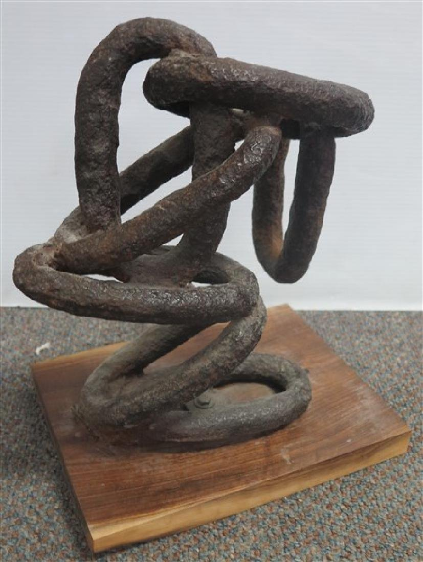 """14.5"""" Chain Linked Sculpture"""