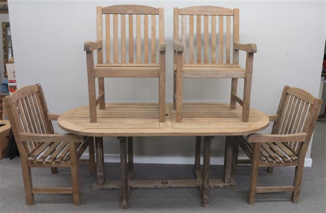 Smith Hawken 5 Pc. Teak Outdoor Set