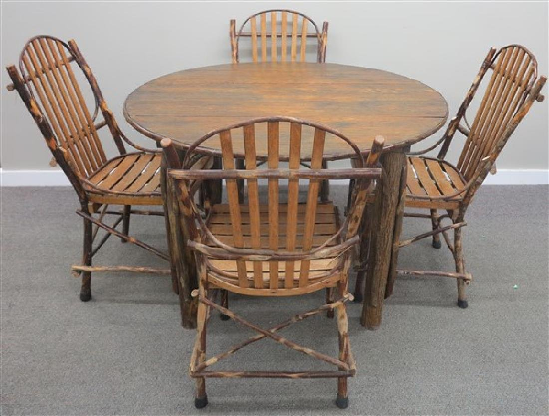5 Pc. Oak & Willow Outdoor Set