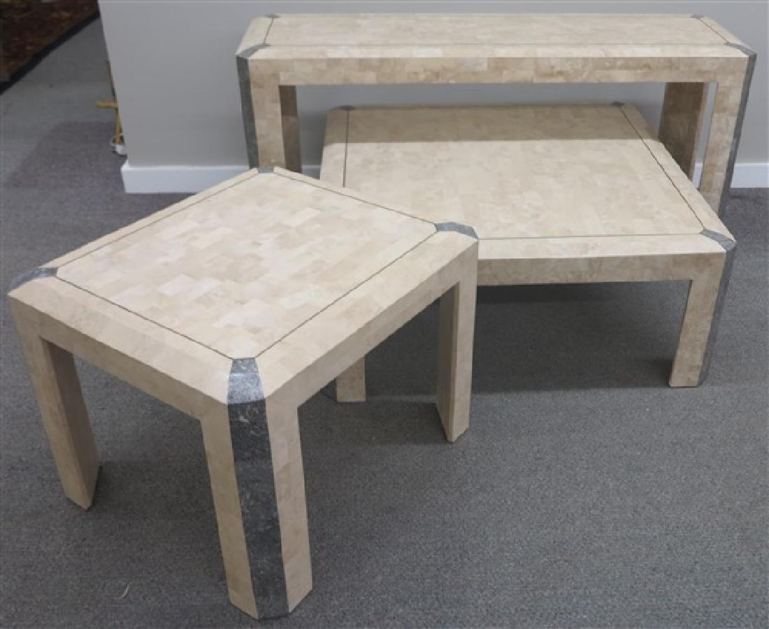 3 Contemporary Stone Veneer Table