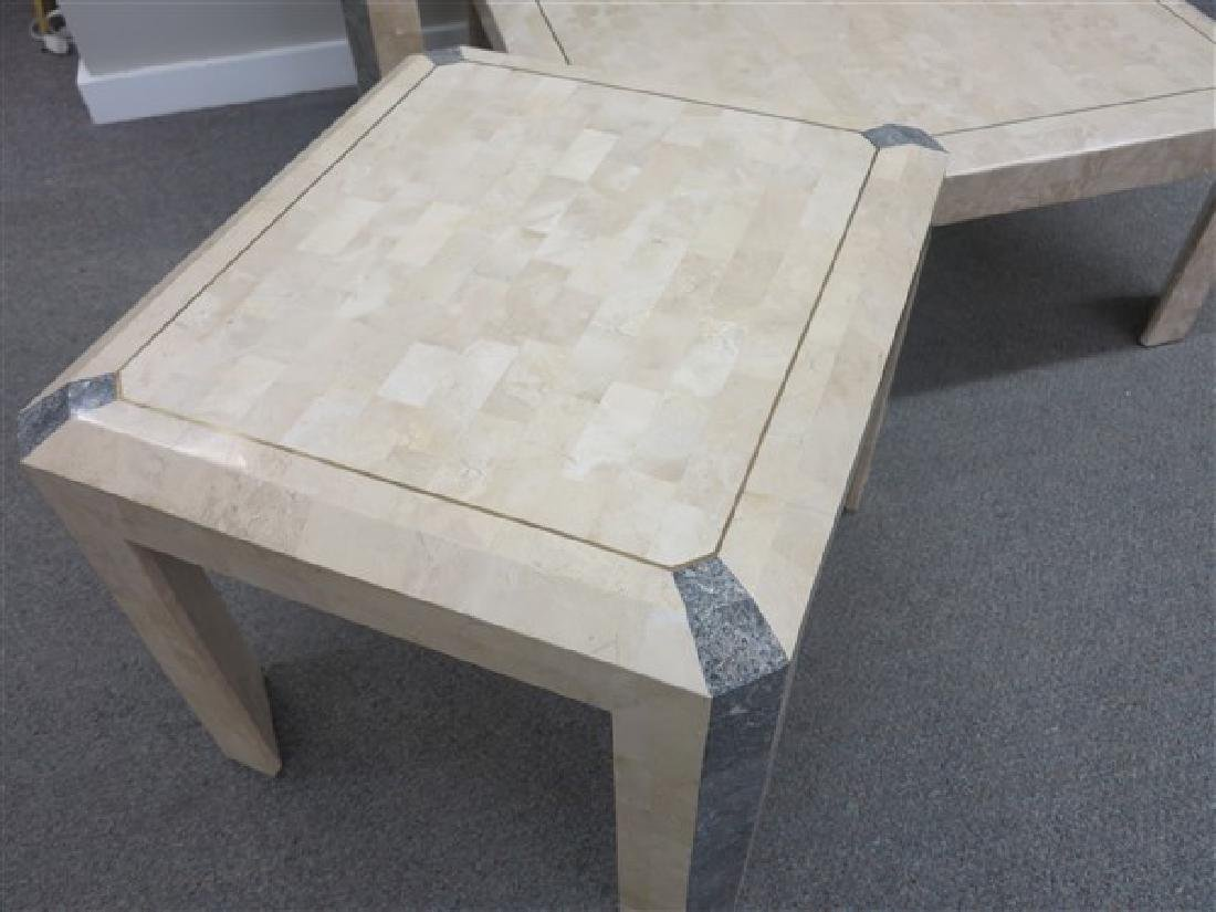 3 Contemporary Stone Veneer Table - 2