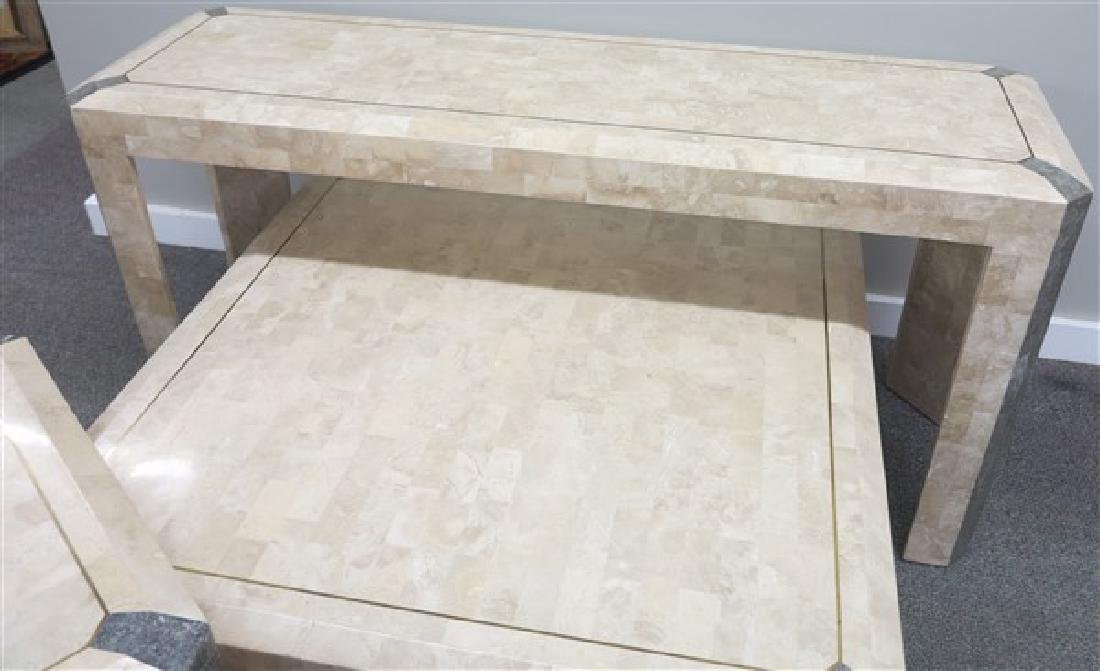 3 Contemporary Stone Veneer Table - 3